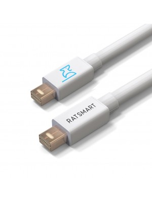 Mini DisplayPort Cable in White by RatSmart - Mini DP to Mini DP Cable - Mini Display Port Cable